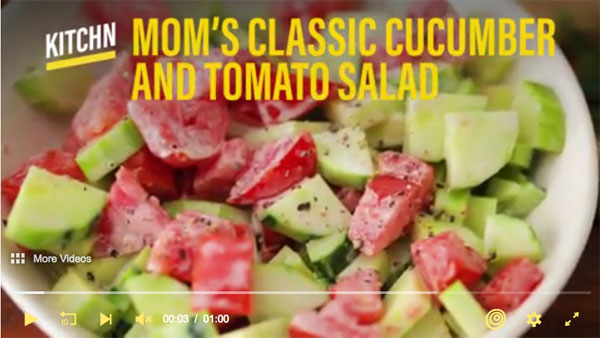 The Kitchen's Mom's Cucumber & Tomato Salad
