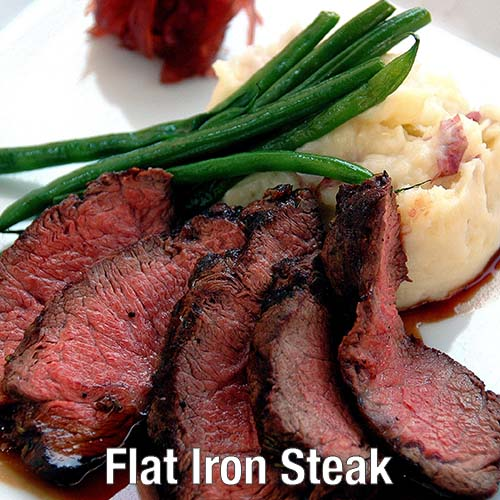 Bauman's Beef Flat Iron Steak